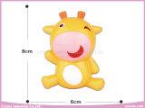 아기 가르랑거리는 소리 장난감 동물 플라스틱은 아기를 위해 덜걱덜걱 소리난다