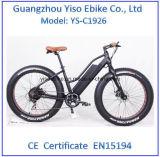 Forma bicicleta de montanha elétrica do pneu gordo de 26 polegadas na alta qualidade