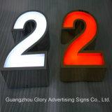 Placa escovada do sinal da letra de canaleta Signboard/LED dos Ss