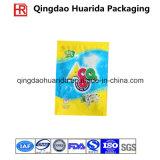Sac de empaquetage plat transparent estampé par logo fait sur commande pour le produit chimique