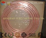 Tubo de cobre padrão do En 12735-1 na bobina da panqueca