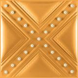 cuero de la PU del efecto 3D que talla el panel de pared de la decoración
