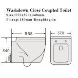 De Waren van Sanitay van de Badkamers van het watermerk sluiten het Ceramische Toilet van de Kruk