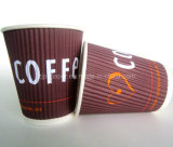 Ondinha ondulada Wall Paper Cup para Hot Coffee Cup
