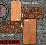 De Laser van Luxyry graveert Geval van de Telefoon van de Cel van het Patroon van de Douane het Houten voor Geval van de Dekking van de Telefoon van iPhone 6s/6plus het Mobiele