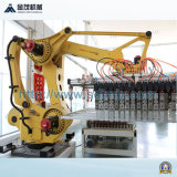 Robot che impila la macchina per fabbricare i mattoni del terreno del sistema