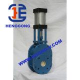 API/DIN пневматическая запорная заслонка фланца Wcb/литой стали промышленная керамическая
