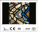 planta personalizada chinesa do vidro manchado da segurança do teste padrão de 3+3mm para a igreja
