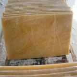 Mármol de Onyx amarillo de la miel, losas del mármol del jade del pavo real