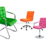 Chaise en cuir de la diversité 2015 d'option d'atelier coloré populaire chaud de loisirs (SZ-OC143)
