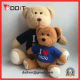 Amo el oso por encargo del peluche del regalo de Sourvnir del oso del peluche de Macau