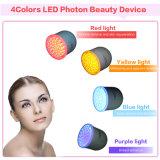 Dispositivo ultrasónico del masaje de la vibración de la luz del color del uso 4 LED del hogar del rejuvenecimiento del fotón del LED