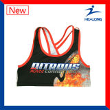 Sublimation Sexy Women Sports Running Yoga Shorts Gilets Tops