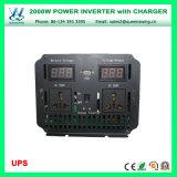 デジタル表示装置(QW-M2000UPS)が付いているDC24V AC220/240V 2000Wの高周波インバーター