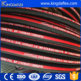 中国の製造R2atの鋼線の編みこみの高圧油圧ゴム製ホース