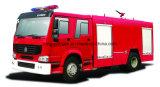 Tipo 4X2 de Sinotruk com tipo carro de bombeiros da espuma e da água