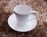 사기그릇 차잔, 세라믹 찻잔과 접시