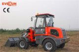 Marca di Everun caricatore cinese della rotella da 1.6 tonnellate mini con la lamierina idraulica della neve da vendere