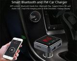 携帯電話APP制御サポートTFカードおよびUSB Disk/FMの送信機(BC12B)が付いている対面プラグUSBを持つスマートなBluetooth車の充電器