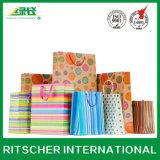 Bolso promocional del papel de Kraft del vino de la manera para el conjunto de empaquetado del regalo de las compras