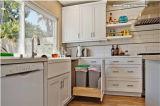 2 armadi da cucina bianchi della vernice della lacca del MDF di colore di PAC