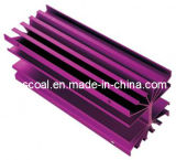Aangepast het Anodiseren Purper Aluminium Heatsink met CNC het Machinaal bewerken