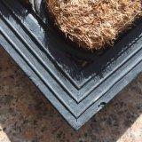 Esteras de puerta al aire libre movidas hacia atrás caucho grabadas recubiertas de goma de la fibra de coco del bonote de los Cocos del cepillo de Mouled
