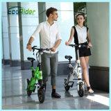 250W bicicleta eléctrica del motor dos plegamiento sin cadena sin cepillo de la rueda del mini pequeño
