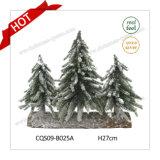 Украшение рождественской елки таблицы зимы цветка бака H24-70cm искусственное