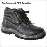 Zapatos de seguridad de los hombres de la inyección de la PU del cuero genuino