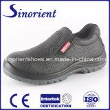 Sapatas administrativas RS8106 das sapatas de segurança do cozinheiro chefe do Nenhum-Laço do couro rachado