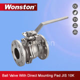JIS 2PC standard ha flangiato valvola a sfera con il rilievo di montaggio diretto