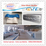 PVC Twin- parede oca de telhado que faz a máquina Sheet