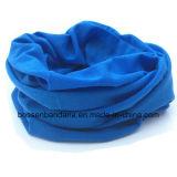 顧客用1枚のカラーによって染められるポリエステル多機能の屋外スポーツの首の管のヘッドスカーフ