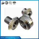 OEMの精密金属螺旋形ギヤ始動機駆動機構の拍車ギヤか螺線形の斜めギヤまたは王冠のピニオンギヤ