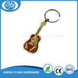 Lembrança Keychain da liga do zinco com mini Gitar