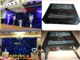 Stage Backdrop Concern Events Wedding를 위한 혼합 Full Colors LED Star Curtain