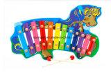 Brinquedo de madeira DIY dos cilindros 2017new do piano dois da mão dos brinquedos das crianças