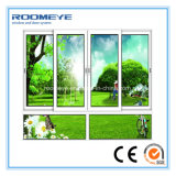 Ventana de desplazamiento de aluminio revestida del marco del polvo de Roomeye con el vidrio Tempered de la seguridad