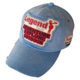 フェルトのアップリケ(6PWS1205)の洗浄された帽子