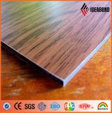 Populäres hölzernes Ende-zusammengesetztes Aluminiumpanel angegeben durch Foshan Ideabond
