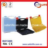 Hot Sale PP Materisl vazio caixa de ferramentas de primeiros socorros caixa de ferramentas de plástico caixa de kit com design colorido