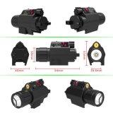 2 in 1 taktischer CREE Q5 LED Taschenlampe 200 Lumen-roter Laser-Anblick kombiniert mit kompakter Schienen-Montierung für Pistole-Pistole