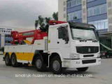 Sinotruck HOWO 8*4crane 도로 Block Wrecker Truck