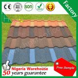Telha de assoalho revestida galvanizada ondulada das telhas da telhadura do metal da pedra da chapa de aço
