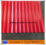 Vorgestrichenes cgi-Blatt mit roter Farbe