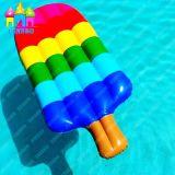 PVC caldo di vendita che fa galleggiare i galleggianti gonfiabili del Popsicle del gelato della spiaggia della sosta dell'acqua dell'aria
