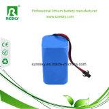 18650 bloco da bateria do Li-íon de 2s1p 7.4V 2200mAh para a lanterna elétrica