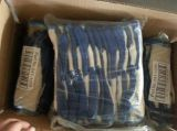 10のゲージ経済的なベージュ色T/Cシェルの青い乳液の働く安全手袋Dkl315