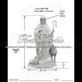 Мраморный каменная статуя Ms-1000 Metrix Carrara статуи гранита